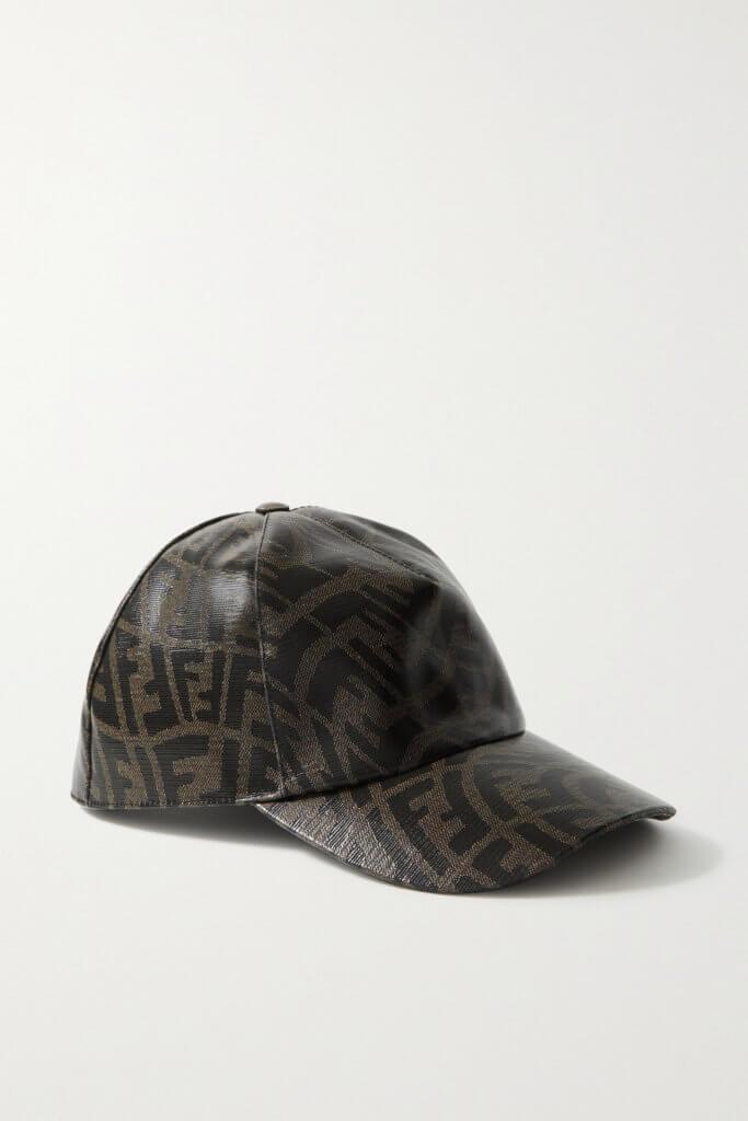 FENDI Printed coated-canvas baseball cap