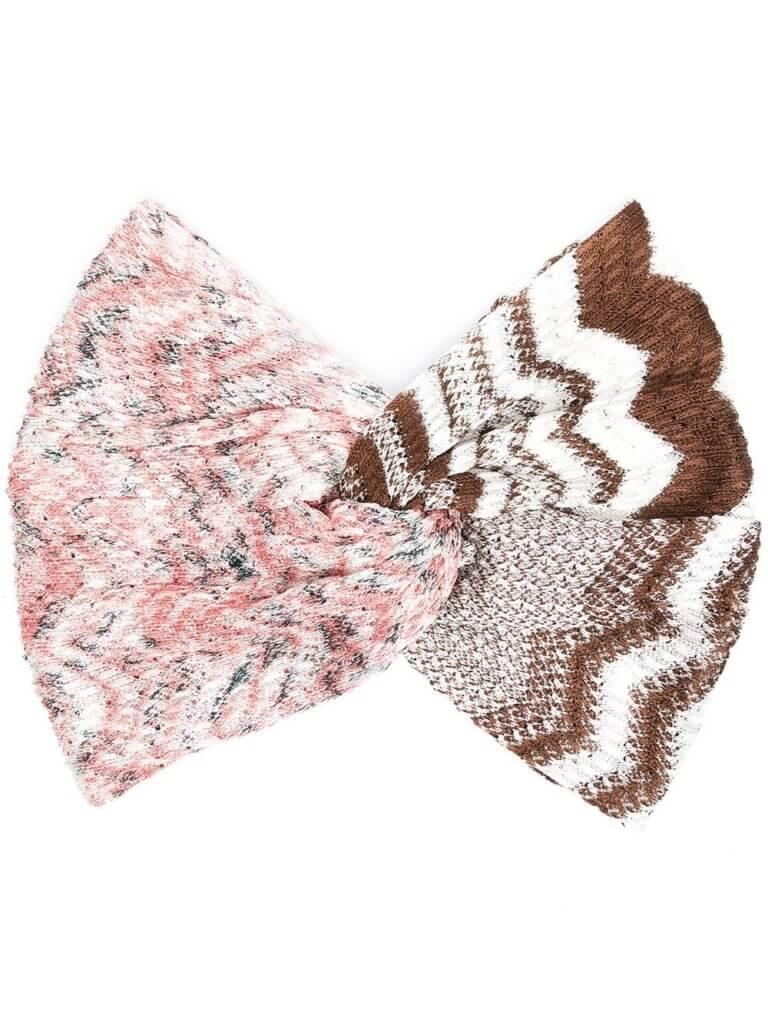 Missoni crochet knit hair bow