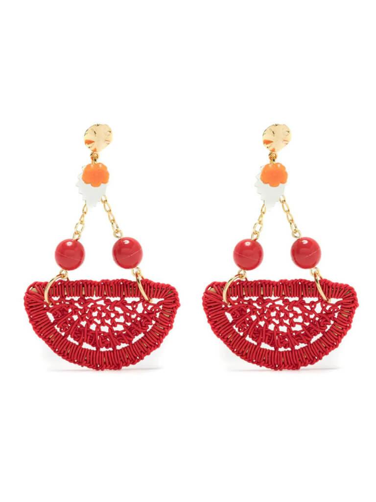 Amir Slama crochet earrings