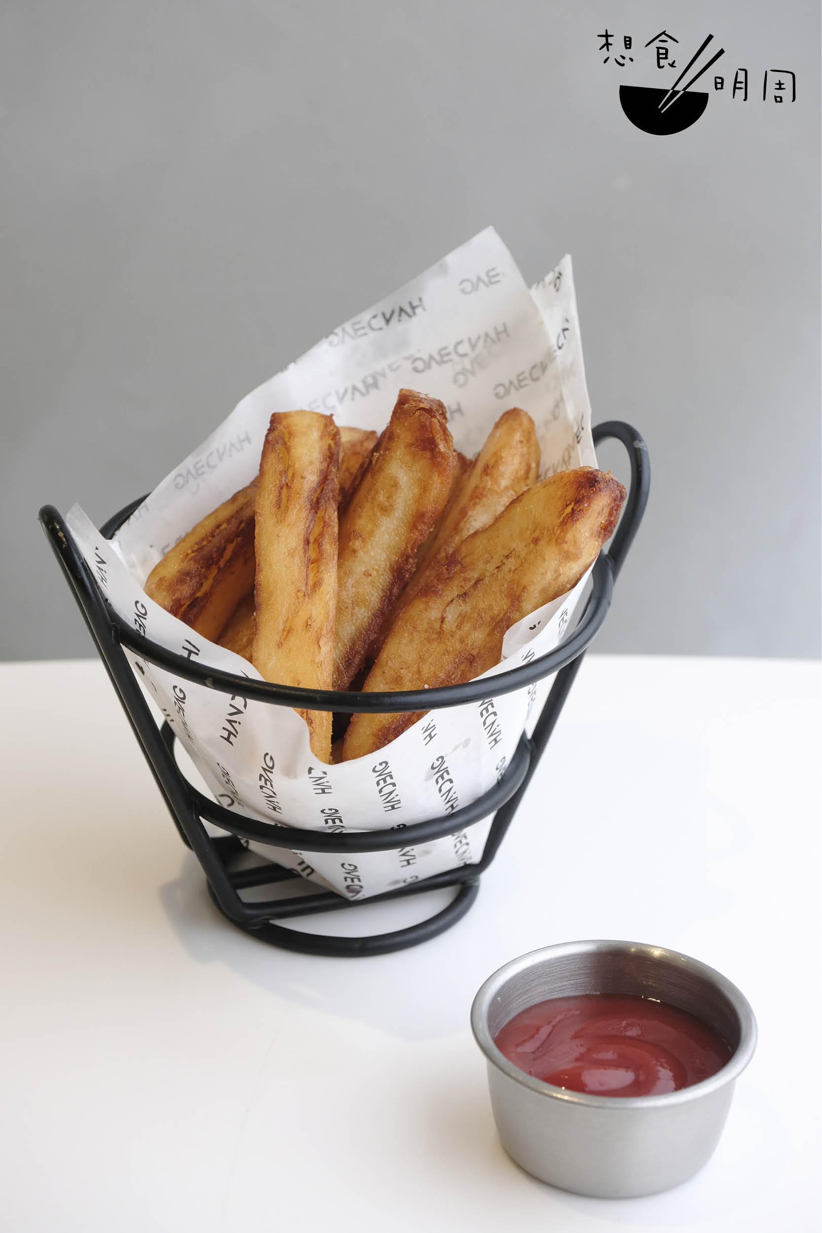 3日3夜自家手切薯條 // 這份薯條份量不多,但用上1至1.5個Agria薯仔,花足三天才完成。($45)
