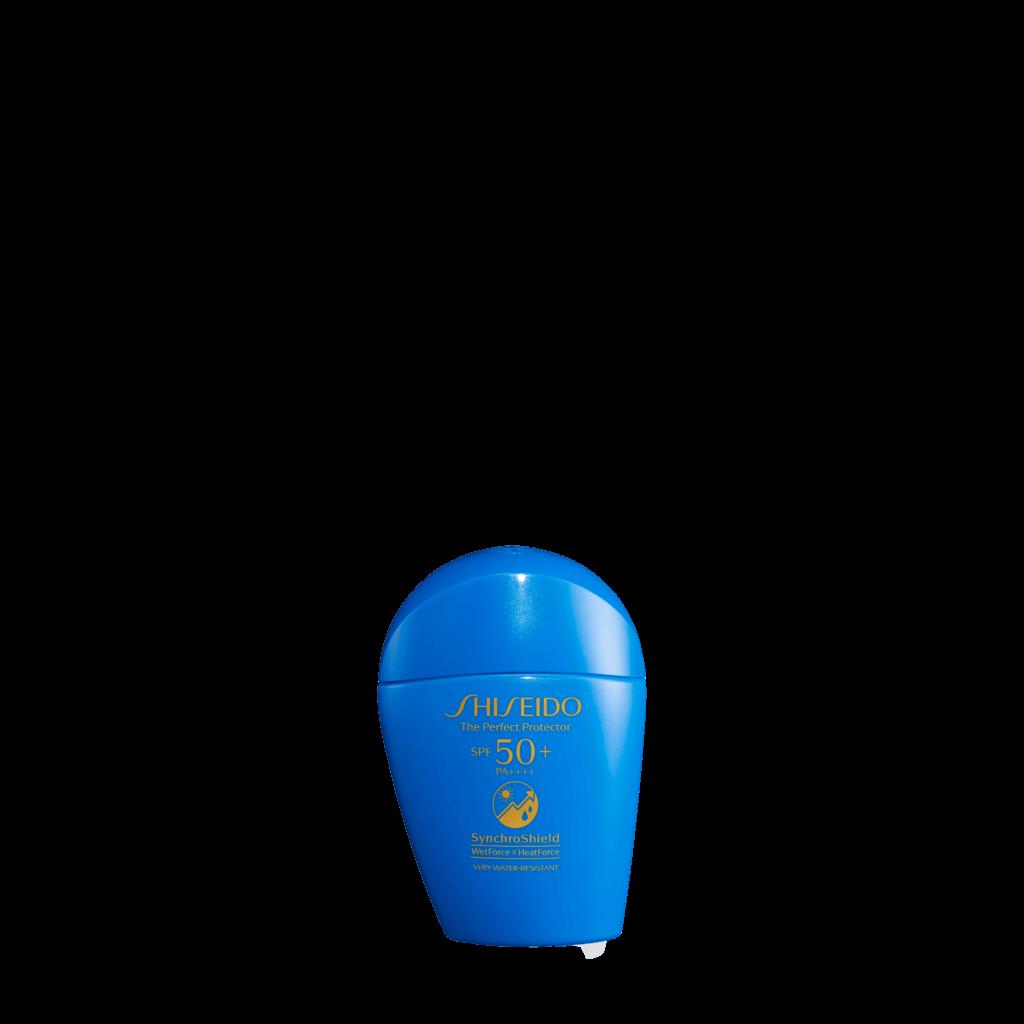 Shiseido全天候感肌抗禦防曬乳液SPF50+ PA++++ $380 利用SynchroShield™感肌同步防禦技術,加入遇熱愈強的HeatForce熱力感應防曬技術,應用熱力和水分的特性,使防曬膜層變得更鞏固,防曬效能極致提升。 揉合逾50%護膚成分,可隔絕紫外線和PM2.5等外界污染物,可作妝前底霜使用。