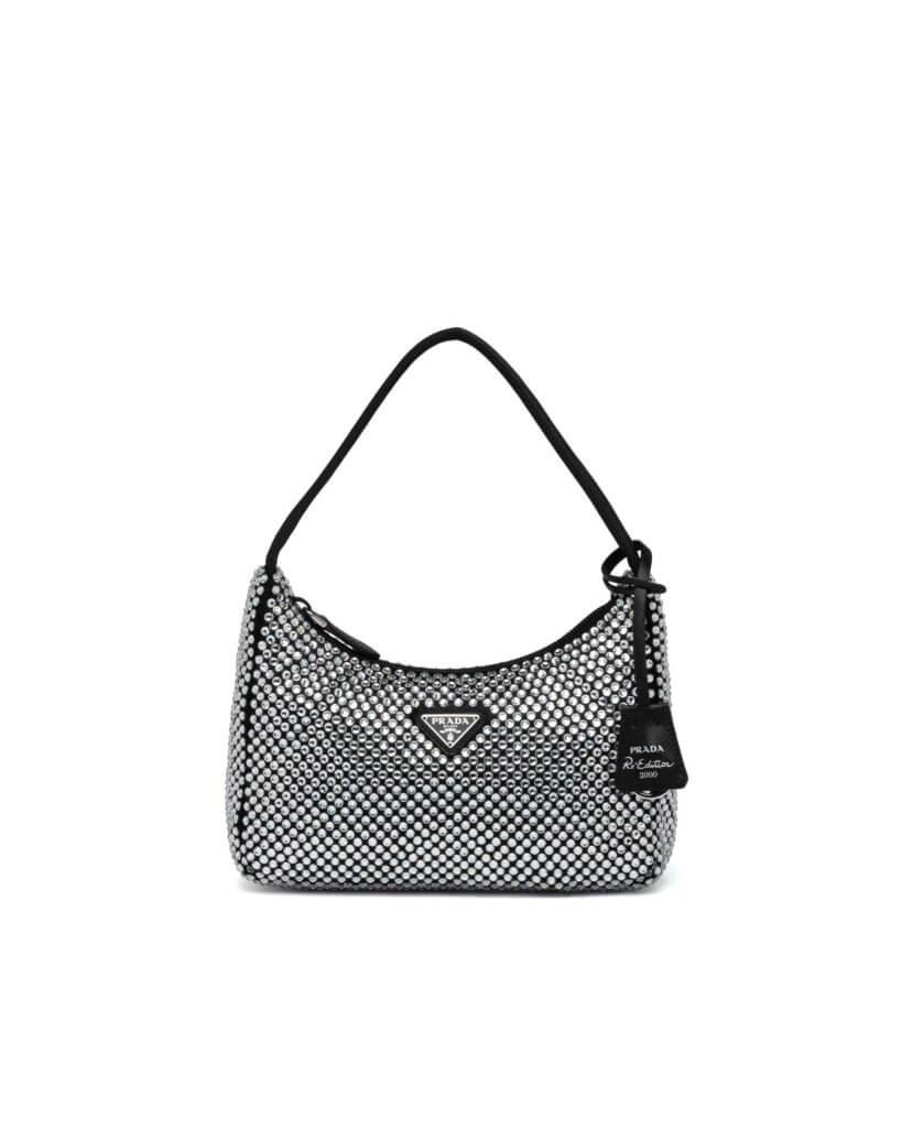 Satin mini-bag with artificial crystals $13,300