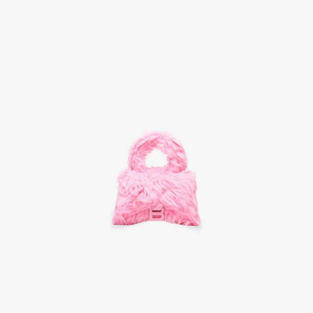 Women's Fluffy Hourglass Xs Top Handle Bag $13,900