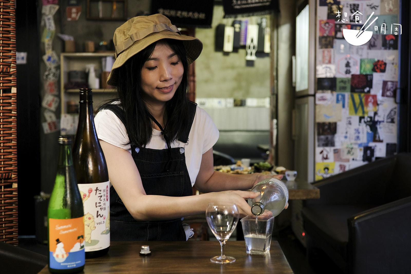 由記者轉為唎酒師的Mandy,從不要求客人遵循什麼品酒規條,只希望大家喝得開心!