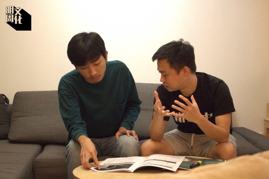 本土研究社成員Brian(圖右)和研究員阿量(圖左)預料新田一帶將面目全非。