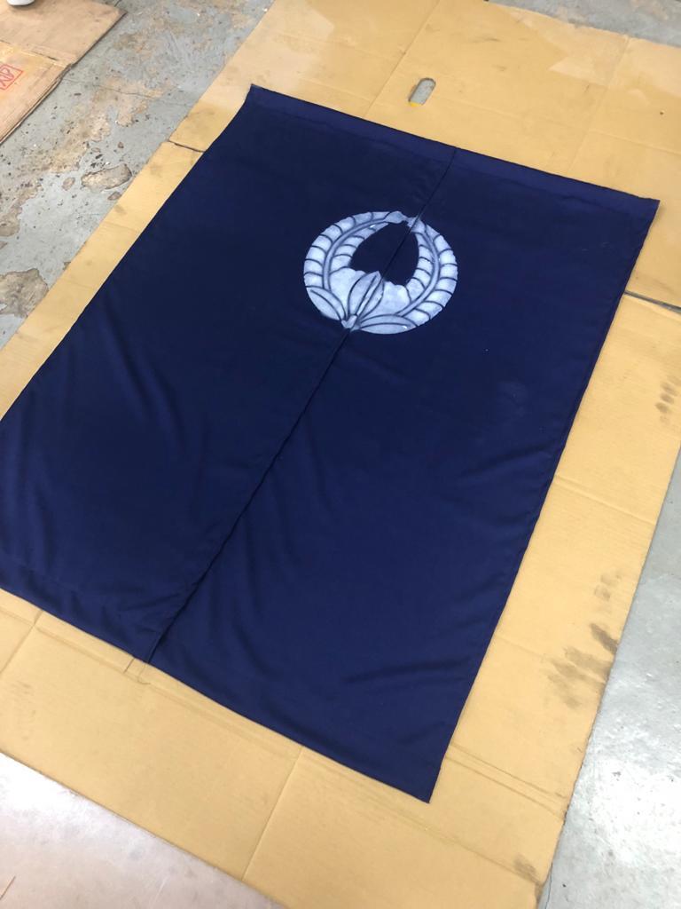 經典的日式門簾亦是AM親自搜羅。(受訪者提供圖片)