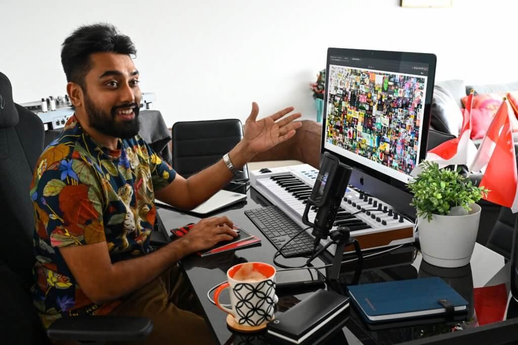 Beeple《每一天》的買家真身是Vignesh Sundaresan,投資加幣貨幣多年,表示《每一天》價值不超過其身家的十分一。(法新社)