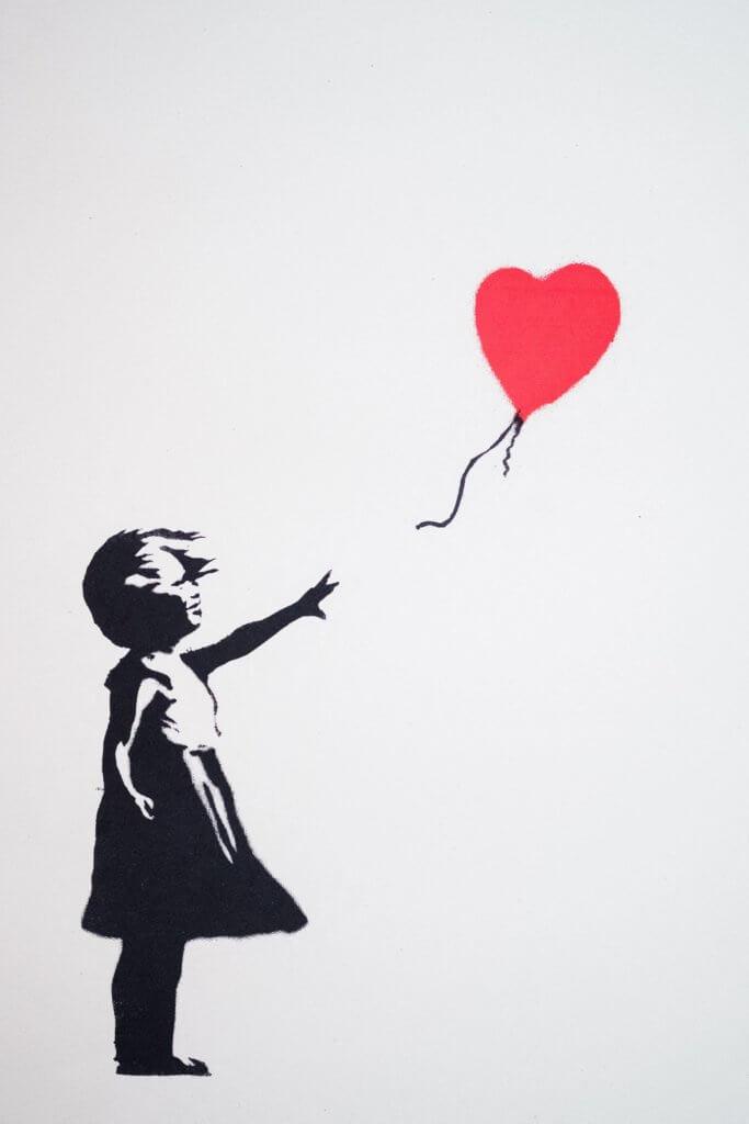 Banksy的標誌性圖畫「氣球女孩」