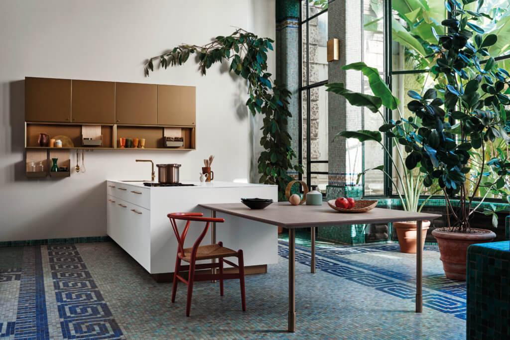 餐廳開放的限制,讓廚房成為許多歐洲人升級家居的第一選擇。圖為意大利廚房品牌Cesar的最新系列。