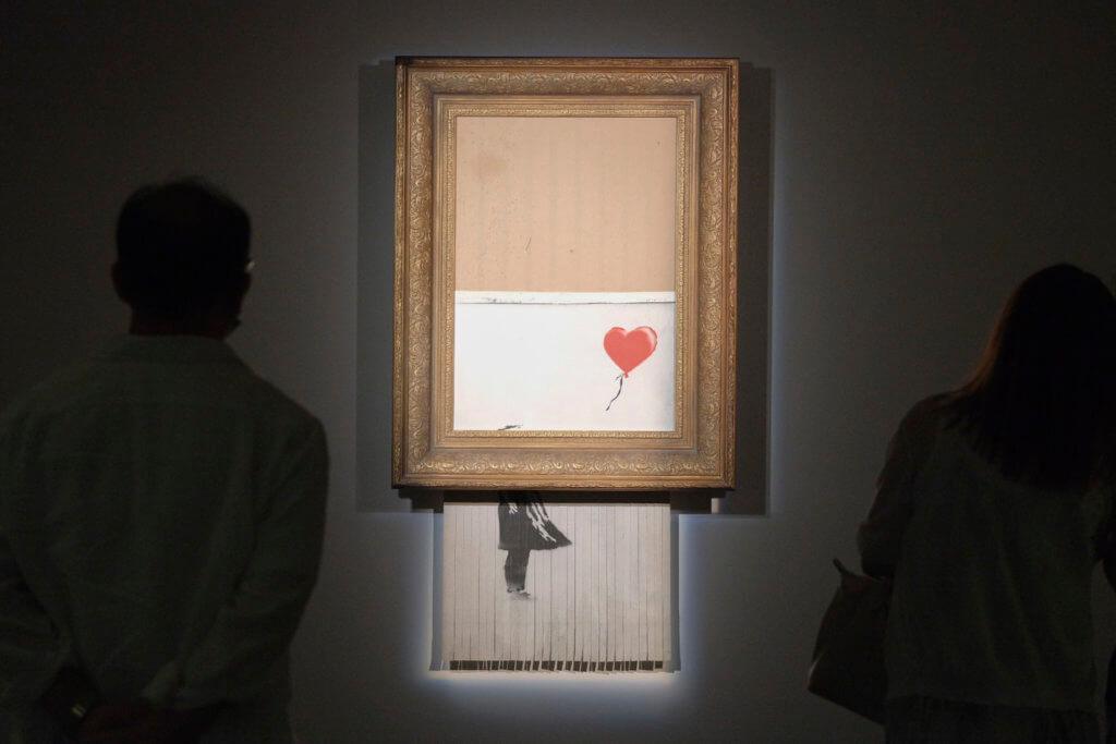 香港蘇富比展出《Love is in the bin》