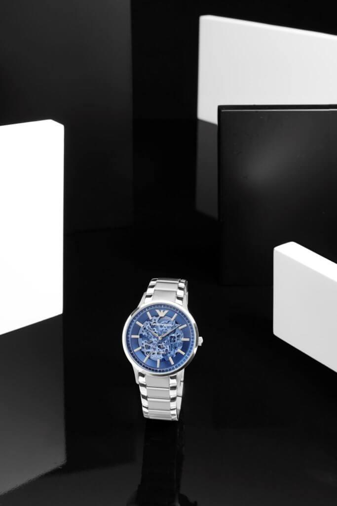 鏤空設計精鋼自動腕錶 $4,500