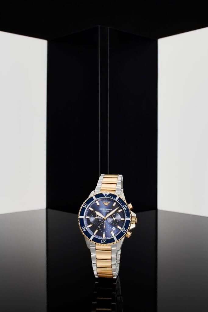 雙色精鋼潛水系列計時碼錶 $3,500