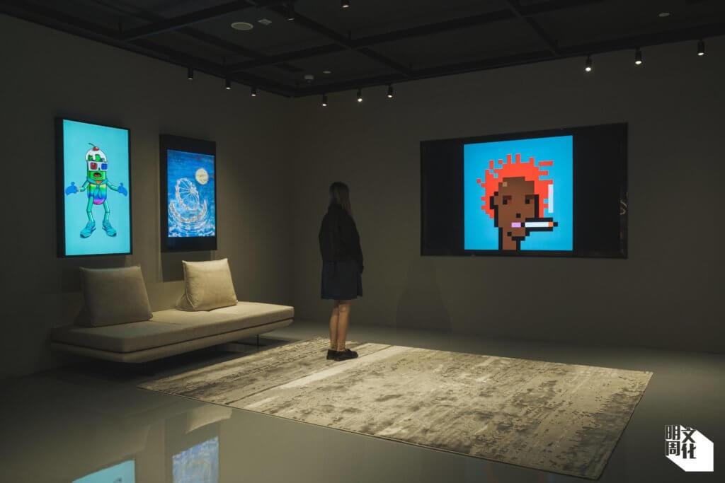 畫廊透過屏幕展示數碼藝術