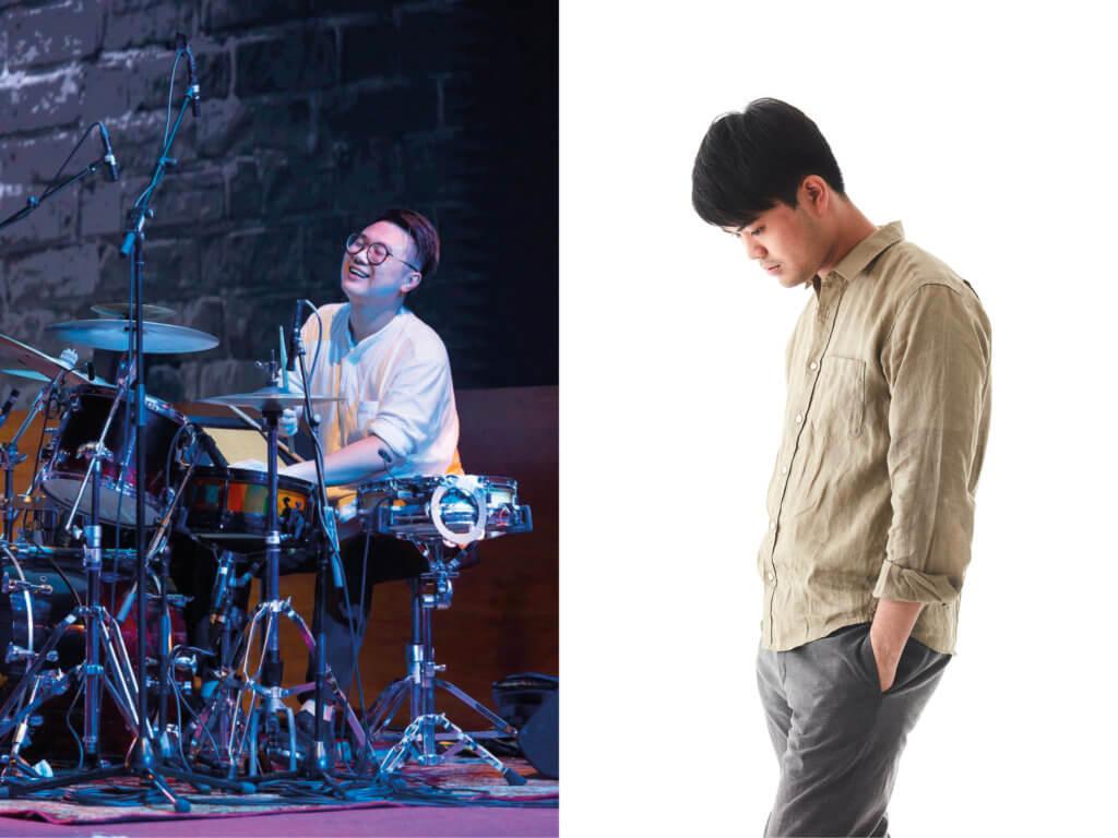 (左起)日場演出者:陳衍光:鼓 (光仔與樂隊);李梓禾:鋼琴 (Loop_pool)