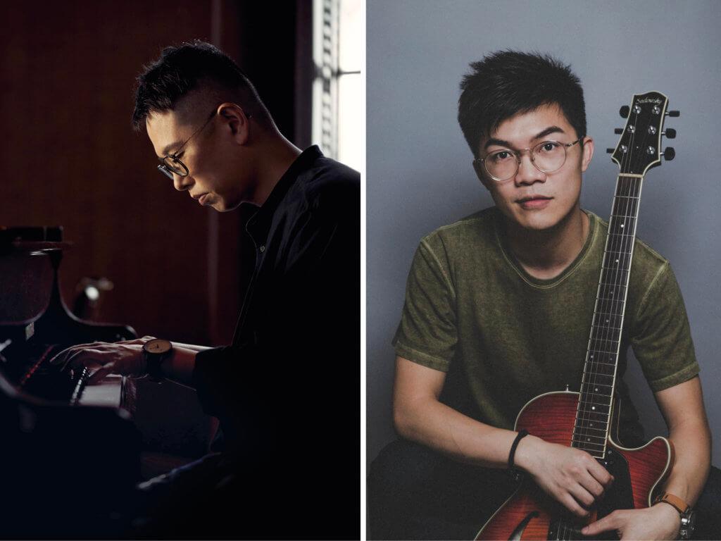 (左起)夜場演出者:雷柏熹:鋼琴/作曲 (雷柏熹爵士大樂團);關家傑:客席結他 (張駿豪與瞬.樂團)