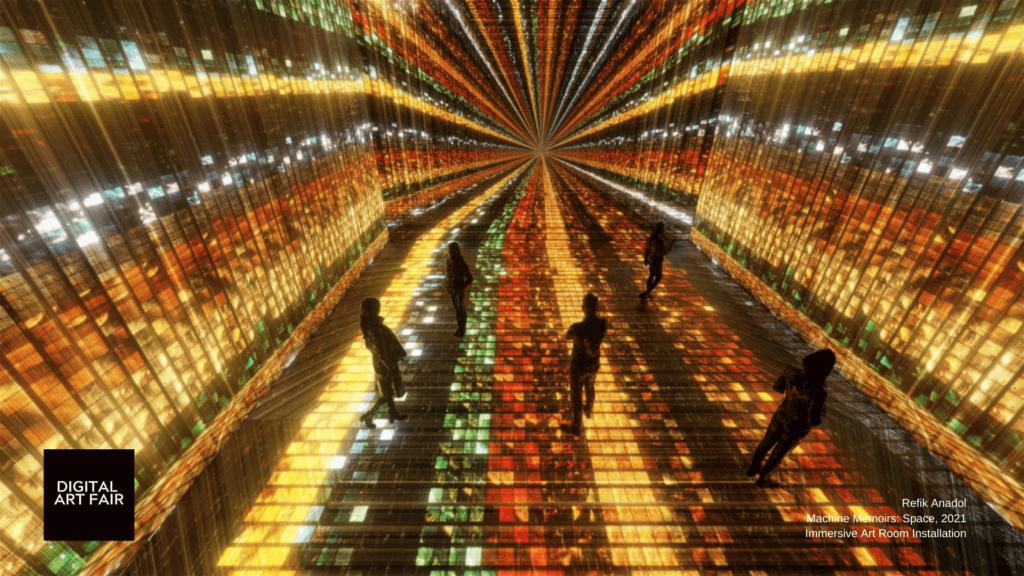 Rek Anadol的沉浸式藝術體驗空間裝置《Machine Memoris: Space》(2021)