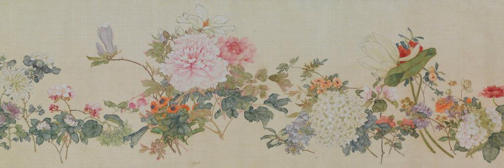 居廉(1828-1904)《百花圖》(選段) 1875