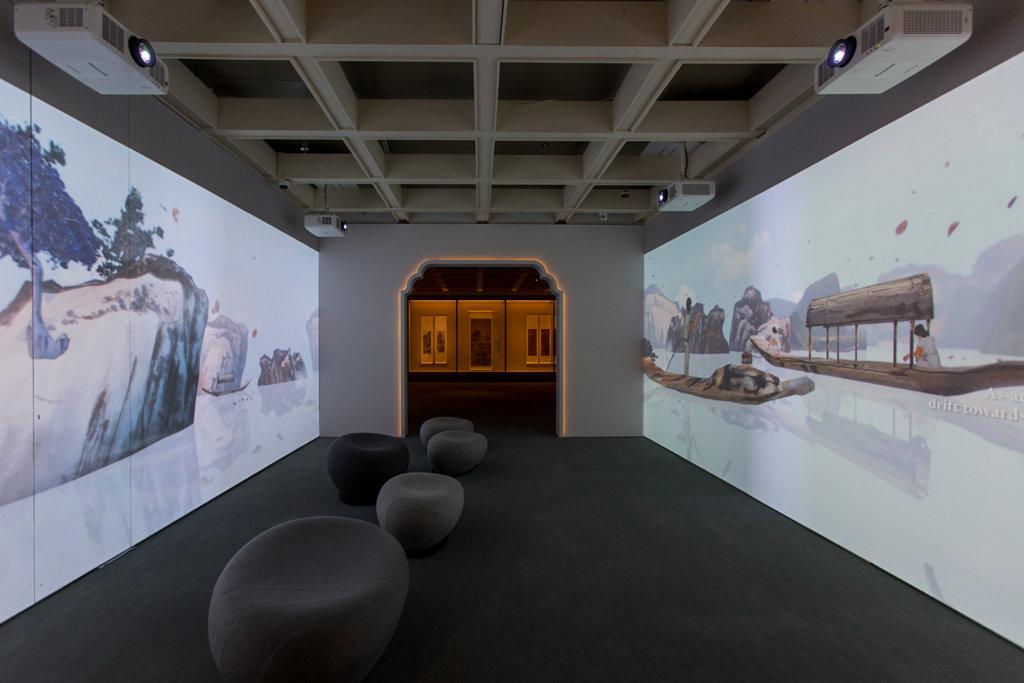 香港藝術館與藝術家成博民合作,在展覽廳入口處設置了以展覽中畫作製成的動畫,由古至今,為參觀者展現廣東繪畫的發展總覽。