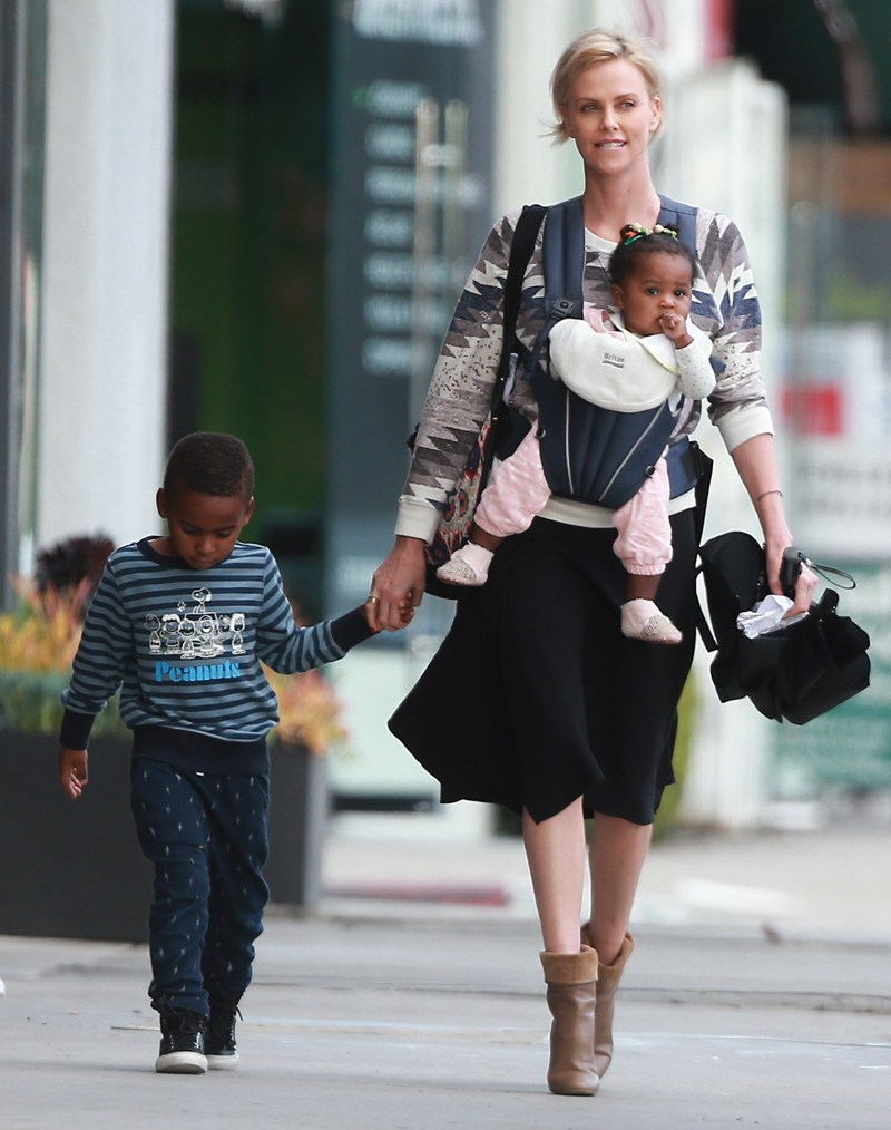 Exclusive... 51994194 'Dark Places' actress Charlize Theron was spotted taking her kids to music lessons in Los Angeles, California on March 11, 2016. Jackson Theron appeared to throw a tantrum at one point that the family was out. ***NO WEB USE W/O PRIOR AGREEMENT - CALL FOR PRICING*** 'Dark Places' actress Charlize Theron was spotted taking her kids to music lessons in Los Angeles, California on March 11, 2016. Jackson Theron appeared to throw a tantrum at one point that the family was out. ***NO WEB USE W/O PRIOR AGREEMENT - CALL FOR PRICING*** FameFlynet, Inc - Beverly Hills, CA, USA - +1 (310) 505-9876