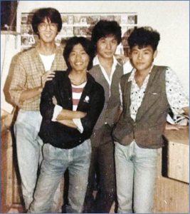 (左起)鄧特希、曾謹昌、韋家輝與韋家雄合資開唱片店,在他心目中,韋家輝是個沉默的哥哥。