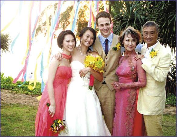 芳芳姐與張正甫育有兩個女兒,長女張凱琹嫁予美籍丈夫Denyer。