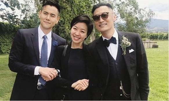 彭于晏和好友齊賀阿樂結婚