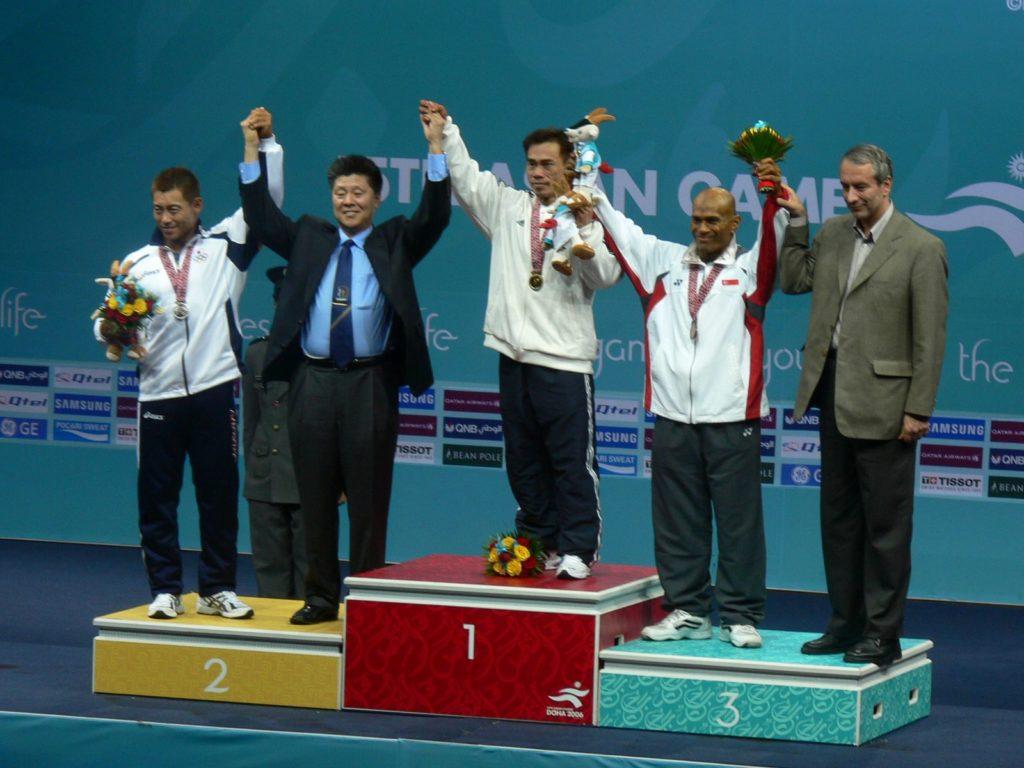 韜哥在亞運取得金牌成為健美界神話人物