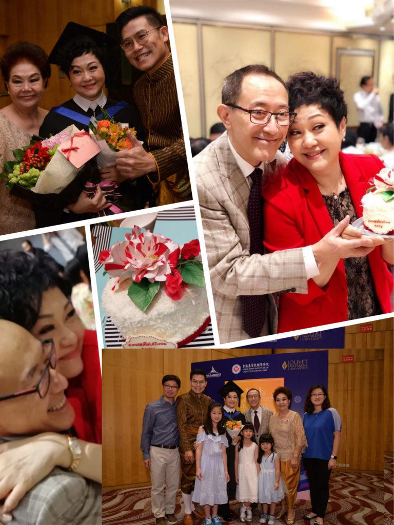 美儀姐畢業禮,毛sir為她準備禮物,親友們也一早到場祝賀。