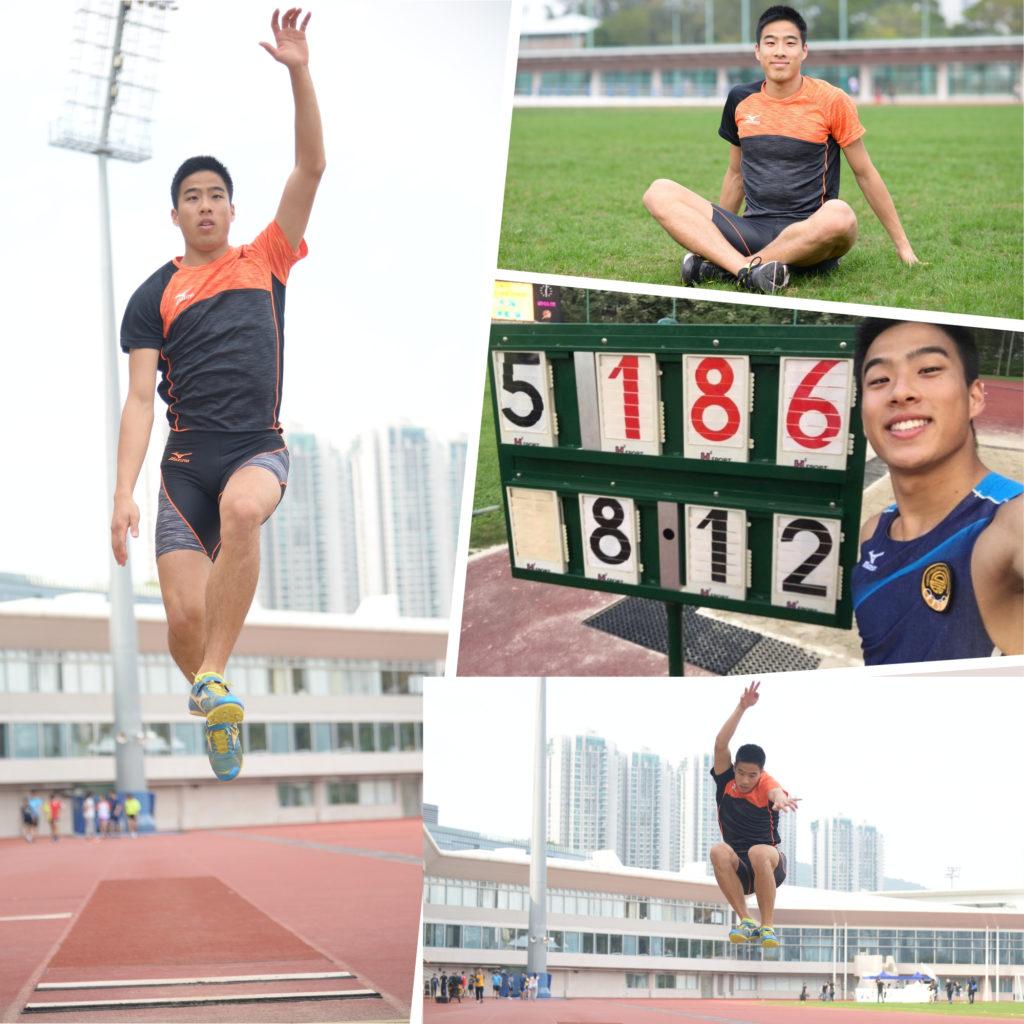 陳銘泰認為跳遠的樂趣在於不斷自我挑戰。