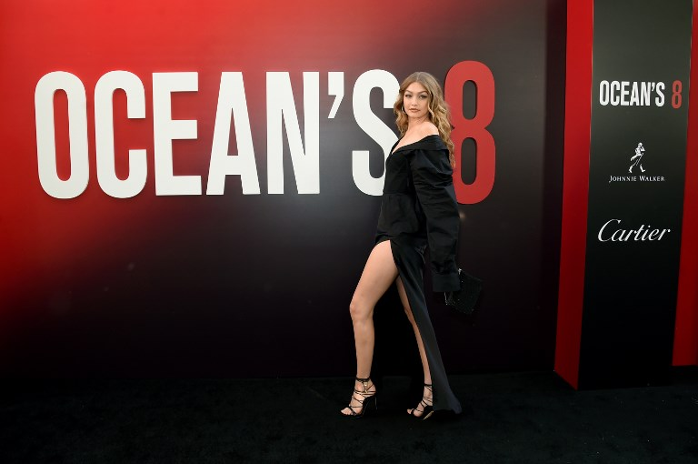 "NEW YORK, NY - JUNE 05: Gigi Hadid attends the ""Ocean's 8"" World Premiere at Alice Tully Hall on June 5, 2018 in New York City.   Jamie McCarthy/Getty Images/AFP"