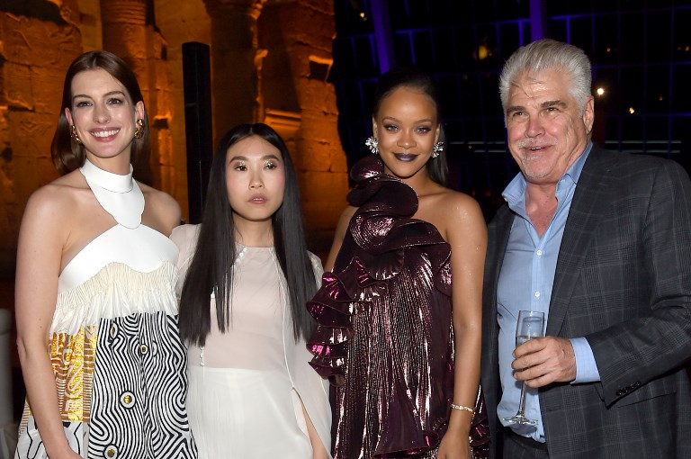 "NEW YORK, NY - JUNE 05: Anne Hathaway, Awkwafina, Rihanna and Gary Ross attend the ""Ocean's 8"" World Premiere After Party on June 5, 2018 in New York City.   Jamie McCarthy/Getty Images/AFP"