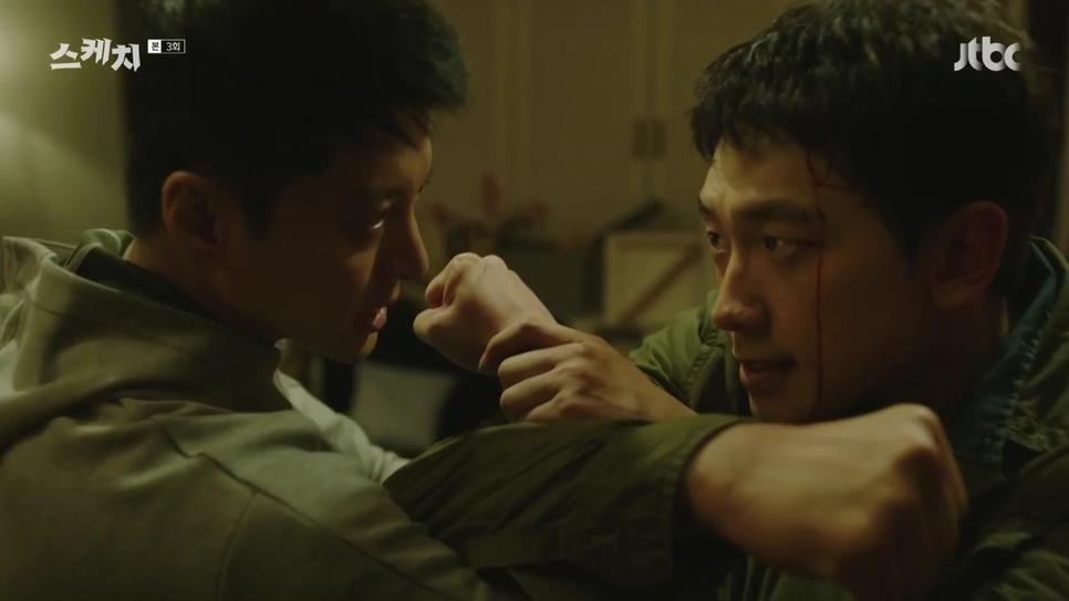 劇中Rain和李東健都有不少打鬥戲
