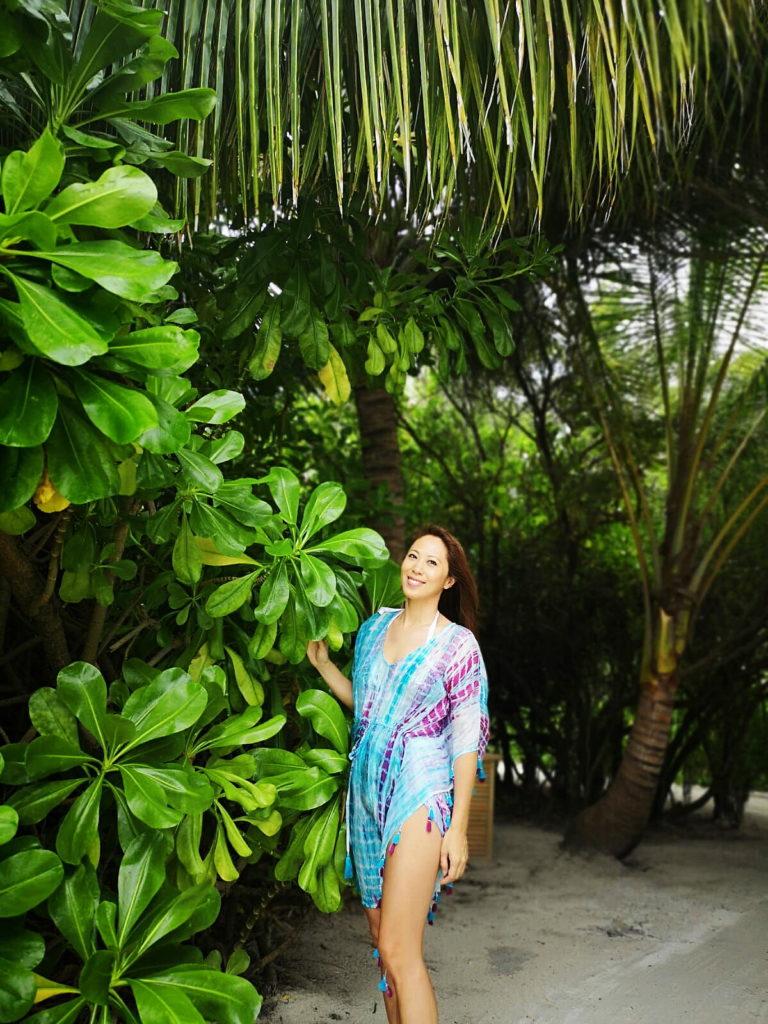 雖然李樂詩忙於照顧家庭,但也抽空做運動,身穿泳照時盡騷健康的身形。