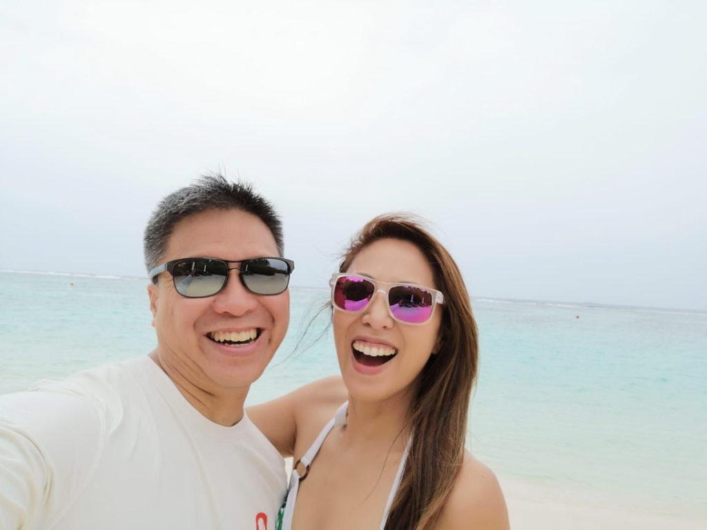 李樂詩與丈夫Ted在馬爾代夫過了四日的二人世界,他們趁機感受昔日拍拖時的感覺。