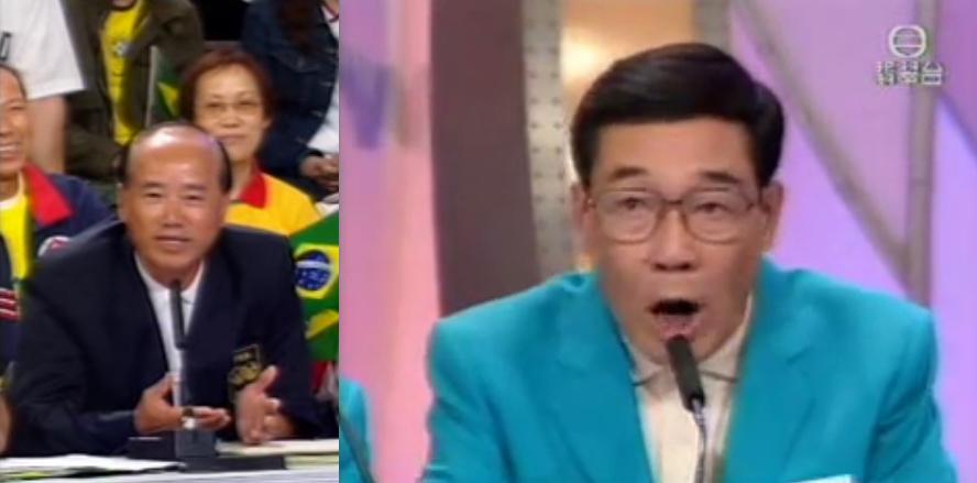 2002年世界盃陳譚新為球證判錯球講說話,阿叔黑臉大罵:「受唔到壓力,唔好學人做球證!」