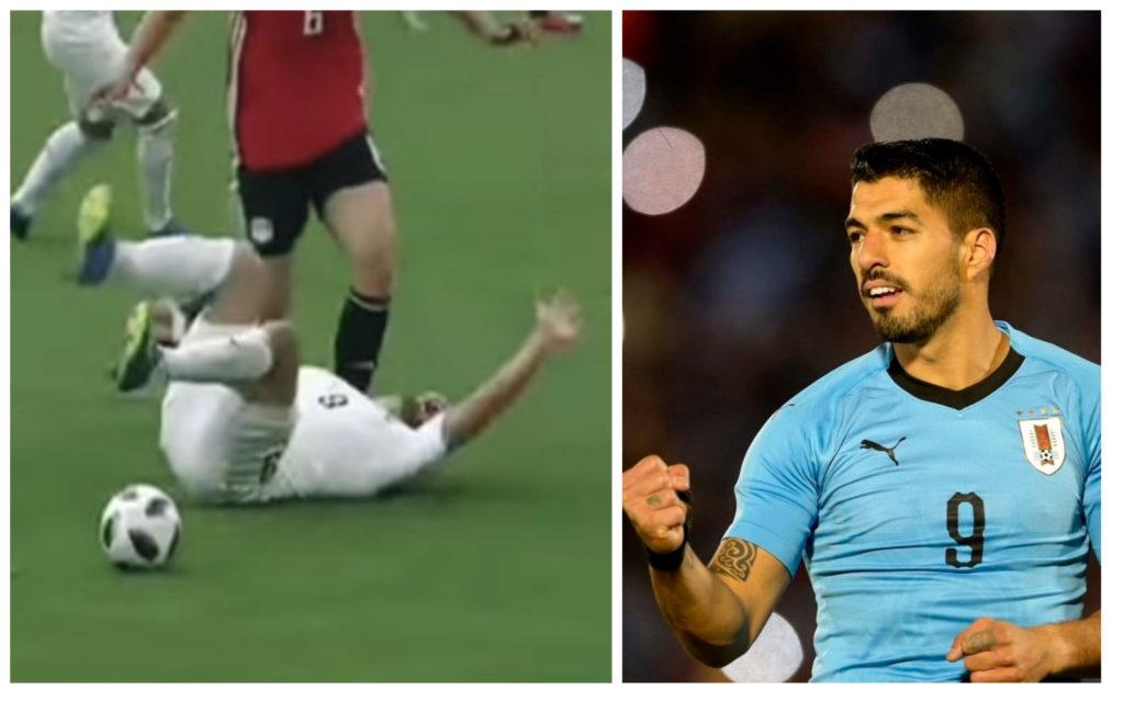 今屆世界盃蘇亞雷斯痛苦跌落地,被指是插水。