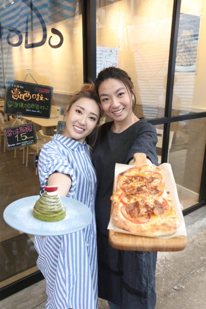 林秀怡(左)與葉婷芝是讀訓練班的同學,二人去年在旺角開餐廳,實現夢想。