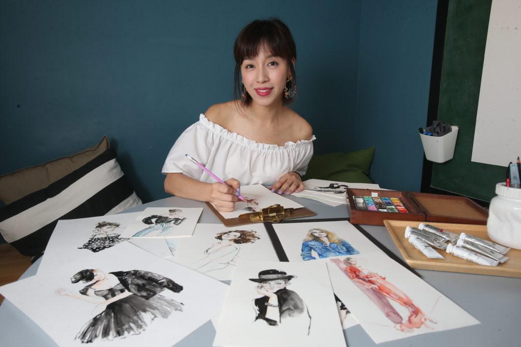 由新聞主播變身為專業插畫師,郭詠嘉在事業上畫出彩虹。