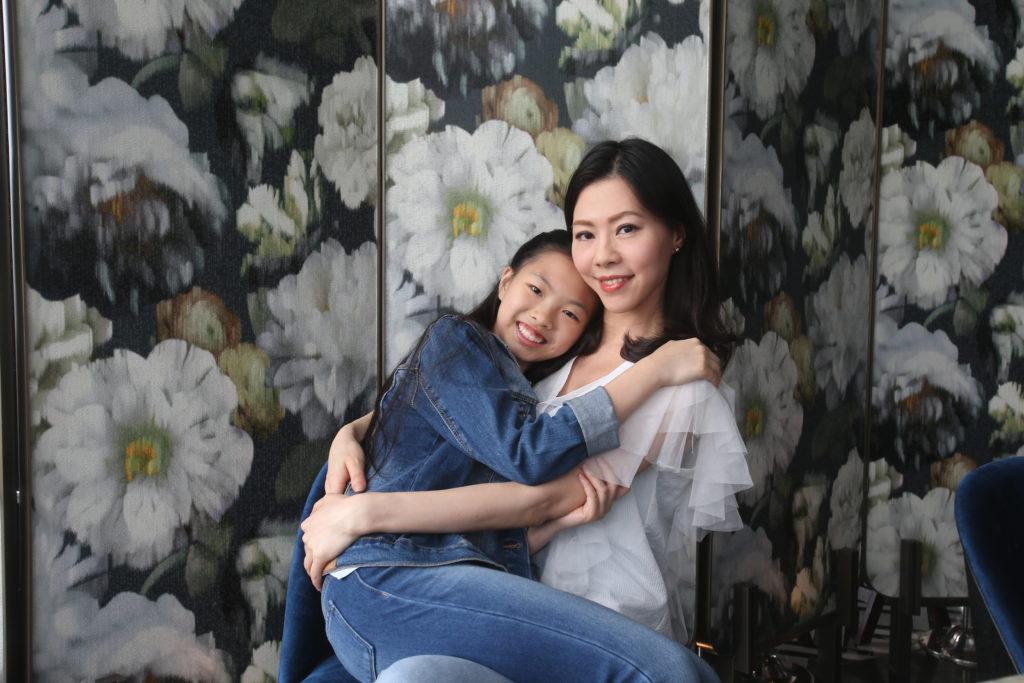 傅楚惠不會強迫女兒Chloe補習,因她只會要求女兒品德,不是求分數。