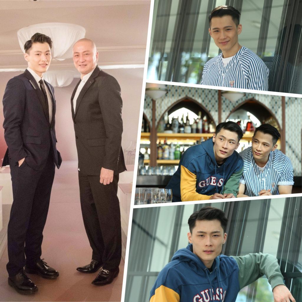 湯鎮業一對孖仔簽了甄子丹做經理人,開始在娛樂圈發展。