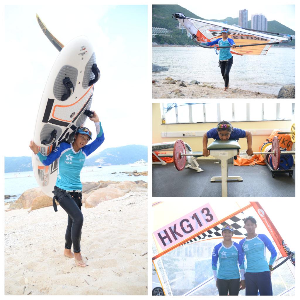 教練鄭國輝讚麥卓穎具備了滑浪風帆運動員的最佳條件
