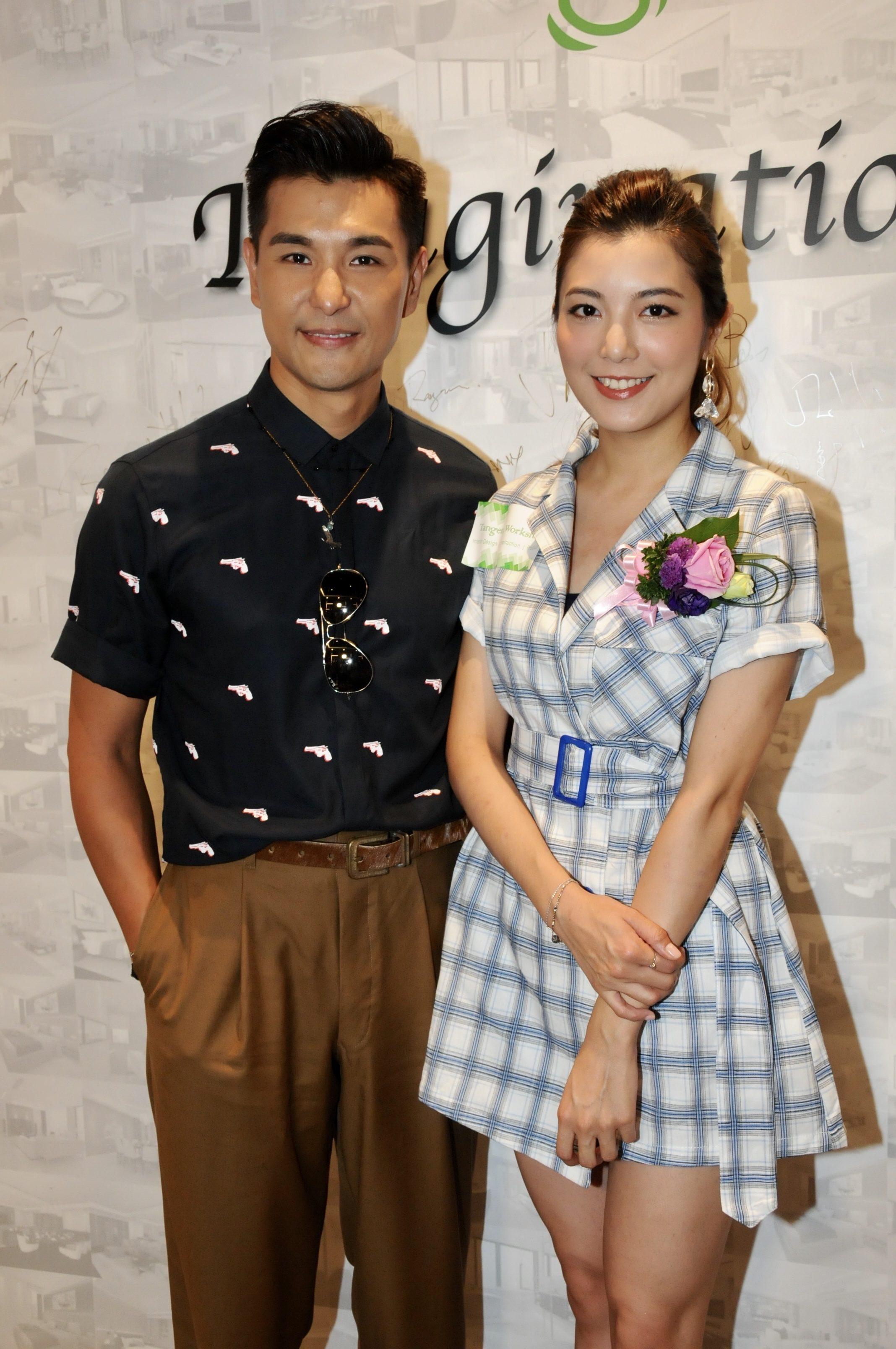 陳展鵬與單文柔早前以情侶檔身份,出席活動搵真銀。