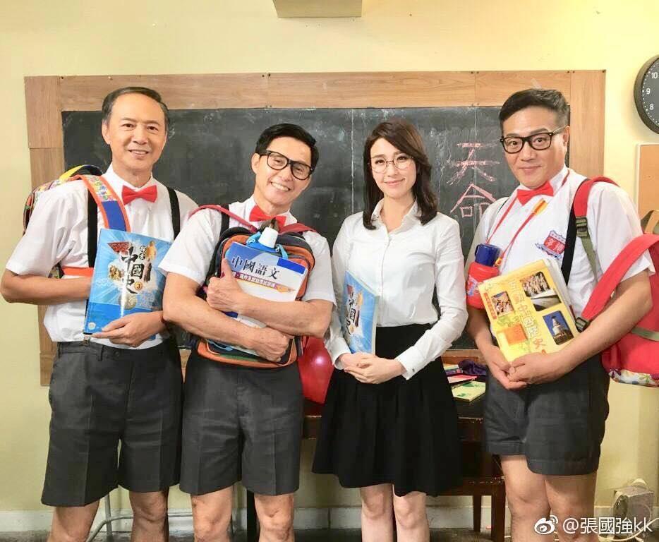 KK、陳榮峻及魯振順均年過半百,扮演學生造型好搞笑。