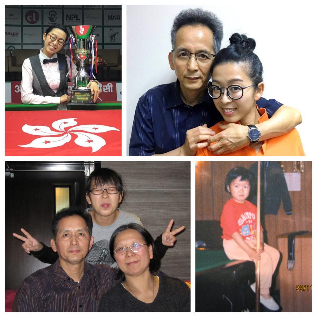 吳安儀和爸爸、媽媽感情深厚
