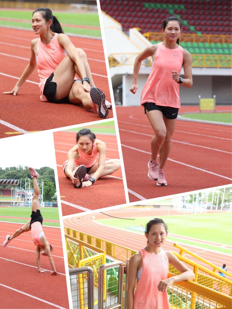 屈旨盈焾表香港參加亞運女子馬拉松比賽_