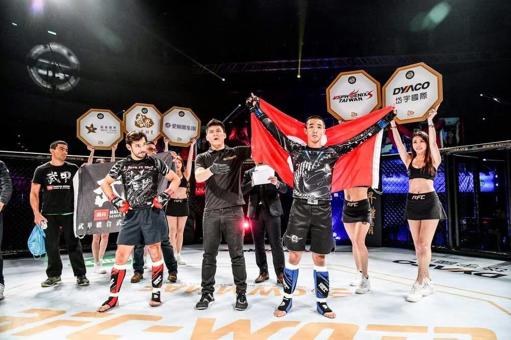 去年出戰在台灣小巨蛋舉行的「CTMMA業餘綜合格鬥賽冠軍賽」