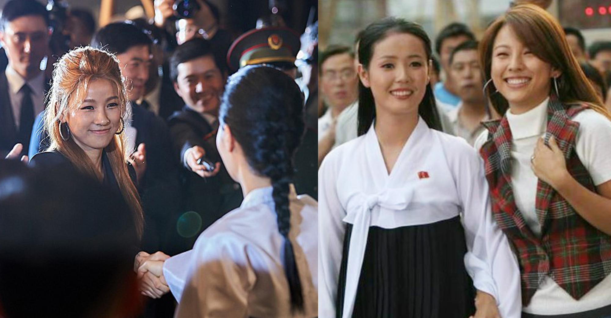 左圖為戲中李孝利的演出,而右圖則是十三年前的世紀廣告,不過當年秀麗的趙明愛,近年卻生活黯淡。