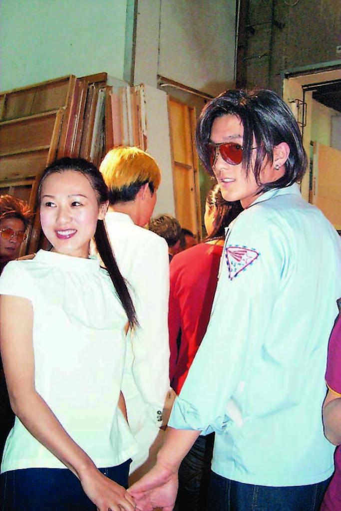 電視劇 康華(左)扮阿Faye與揚明(右)扮雷霆 0621202P