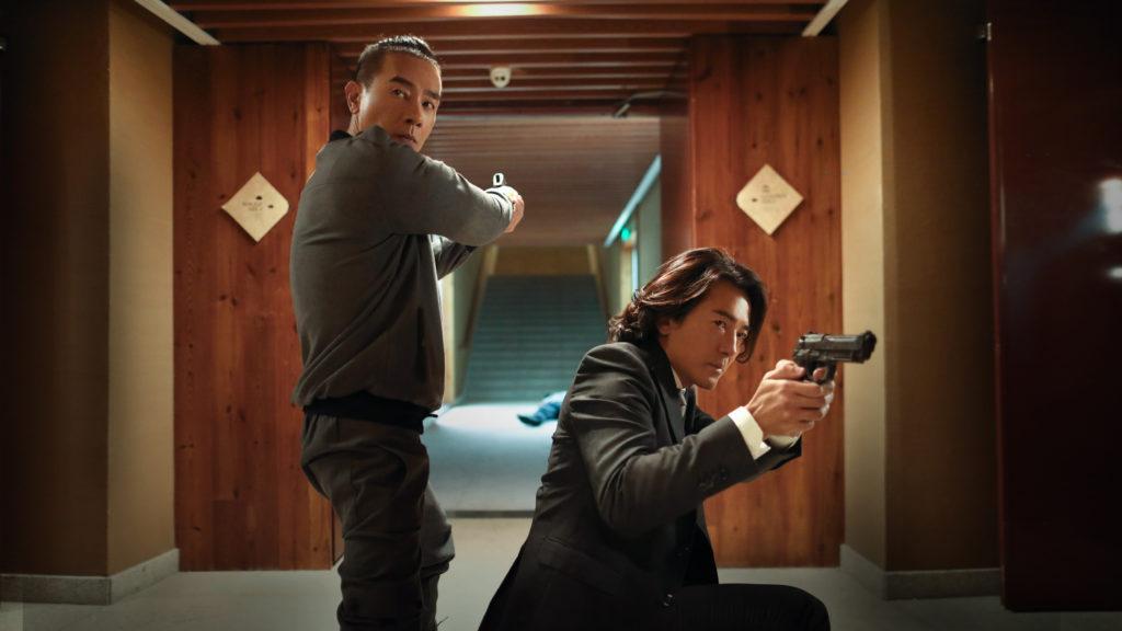 眾人在戲中飾演僱傭兵,錢嘉樂說開拍前要安排眾人上堂學開槍。