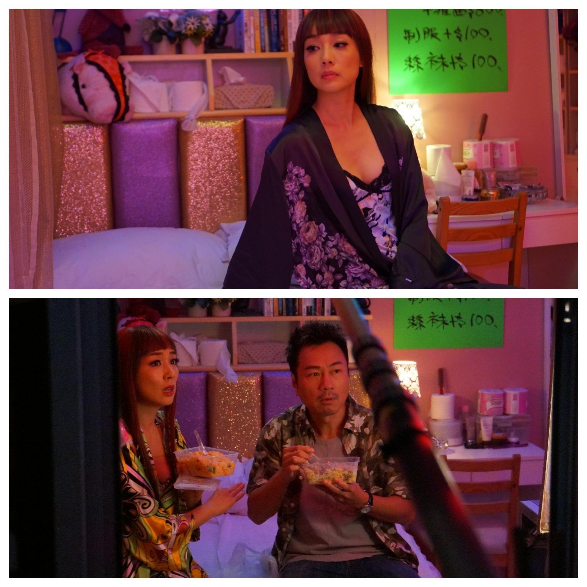 做妓女的江美儀更會角色扮演招攬客人,祥仔更是她的恩客。